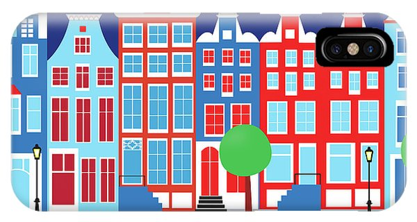 Holland iPhone Case - Amsterdam Netherlands Horizontal Scene by Karen Young