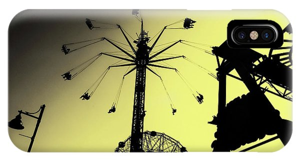 Amusements In Silhouette IPhone Case