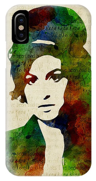 Amy Winehouse Watercolor IPhone Case