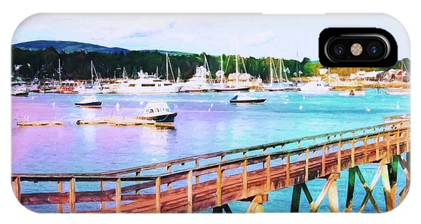 An Abstract View Of Southwest Harbor, Maine  IPhone Case