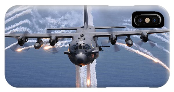 An Ac-130h Gunship Aircraft Jettisons IPhone Case