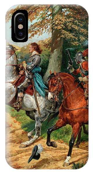 King Charles iPhone Case - An Ambush After The Battle Of Naseby by Richard Caton Woodville