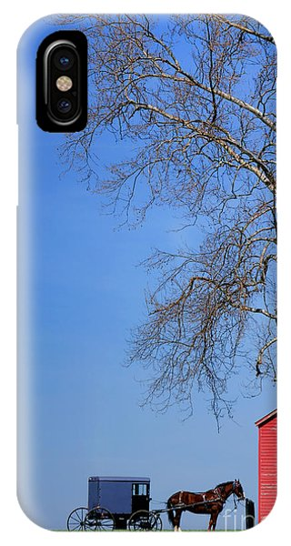Amish Country iPhone Case - An Amish Scene by Olivier Le Queinec