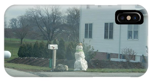 An Amish Snowman IPhone Case