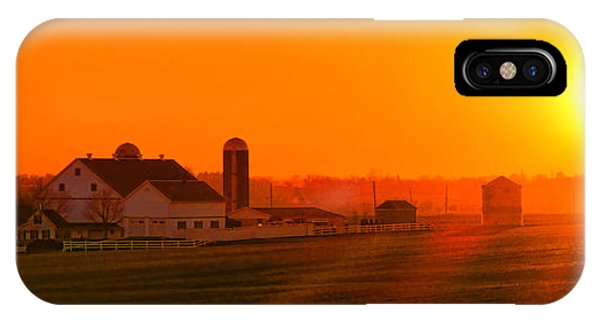 Amish Country iPhone Case - An Amish Sunset by Olivier Le Queinec