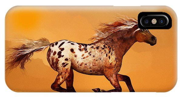 An Appaloosa Called Ginger IPhone Case
