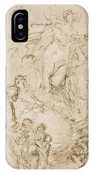 Rosa iPhone Case - An Apparition by Salvator Rosa