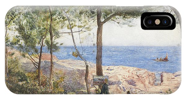 At Work iPhone Case - An Artist Painting By The Sea by John William Inchbold