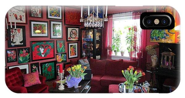 An Artists Livingroom IPhone Case