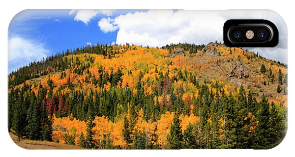 An Autumn Drive - Panorama IPhone Case