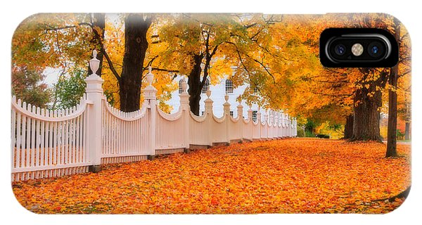 An Autumn Stroll - West Bennington Vermont Phone Case by Expressive Landscapes Fine Art Photography by Thom