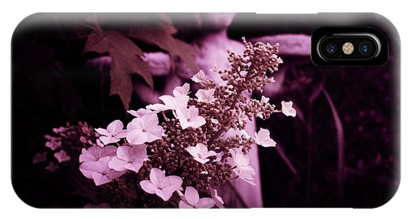 Midnite iPhone Case - Garden Angel  by Toni Hopper