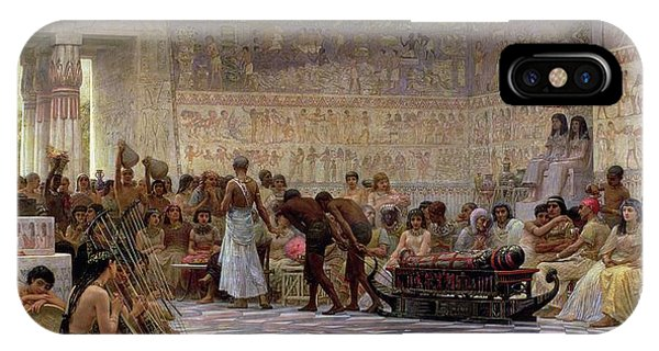 Columns iPhone Case - An Egyptian Feast by Edwin Longsden Long