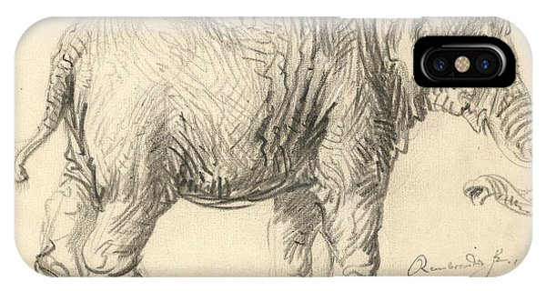 Baroque iPhone Case - An Elephant by Rembrandt