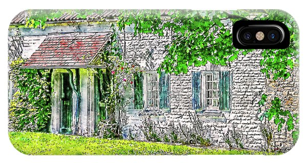 IPhone Case featuring the digital art An English Cottage by Anthony Murphy