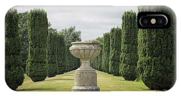 Farm Tool iPhone Case - An English Country Garden by Martin Newman