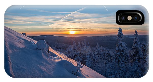 an evening on the Achtermann, Harz IPhone Case