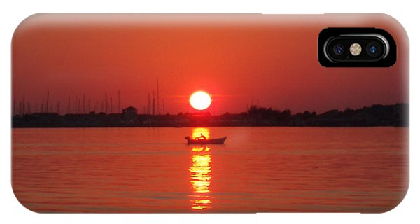 An Evening Row IPhone Case