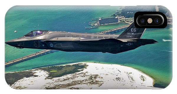 An F-35 Lightning II Flies Over Destin IPhone Case