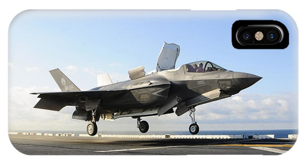 Liftoff iPhone Case - An F-35b Lightning II Lifts by Stocktrek Images