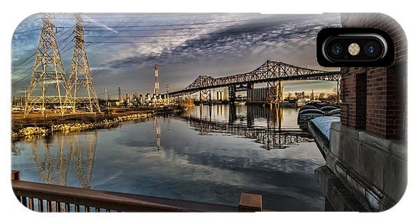 an Industrial river scene IPhone Case