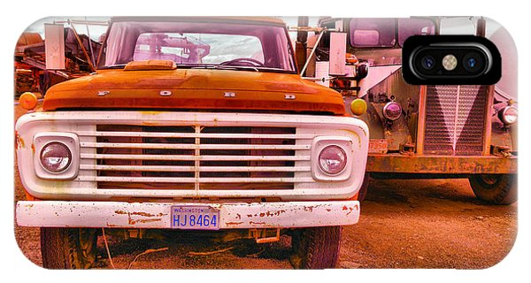 Trucking iPhone Case - An Old Ford And Kenworth by Jeff Swan