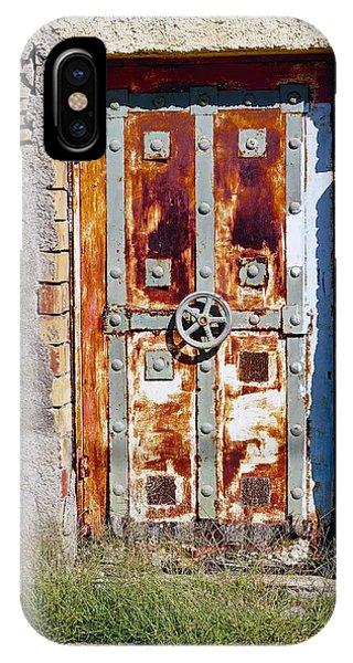 An Old Rusty Door In Katakolon Greece IPhone Case