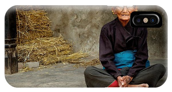 An Old Woman In Bhaktapur IPhone Case