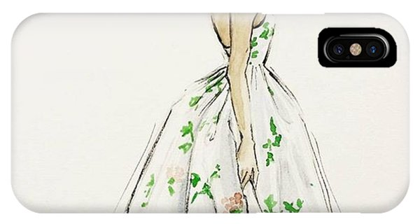 Watercolor iPhone Case - Dressed In White And Roses by Anna Wijnands