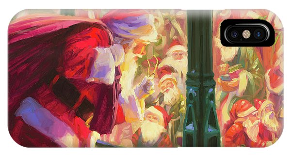 Santa Claus iPhone Case - An Unforeseen Encounter by Steve Henderson