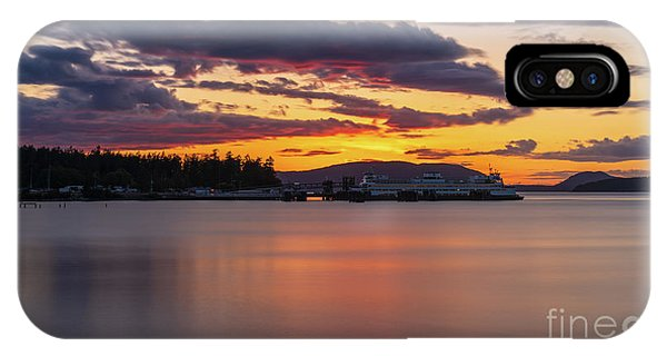 Whidbey iPhone Case - Anacortes Ferry Dock Sunset Gateway To The San Juan Islands by Mike Reid