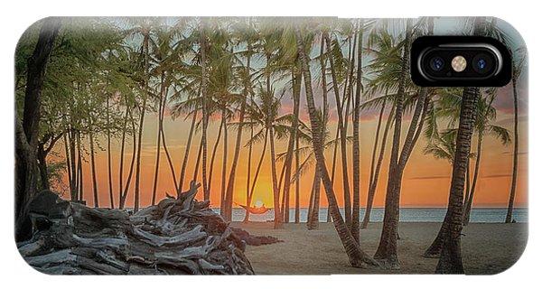 Anaehoomalu Beach Sunset IPhone Case