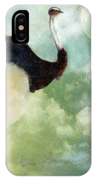 Ostrich iPhone Case - Anastasia's Ostrich by Mindy Sommers