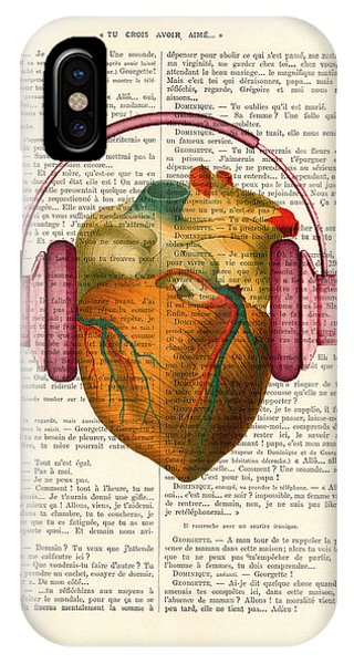Anatomy iPhone Case - Anatomical Heart And Headphonesin Color  by Madame Memento
