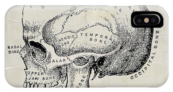 Anatomical Skull Medical Art IPhone Case