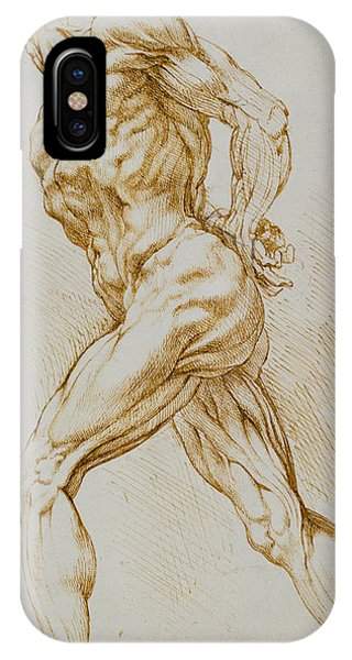 Pastel Pencil iPhone Case - Anatomical Study by Rubens
