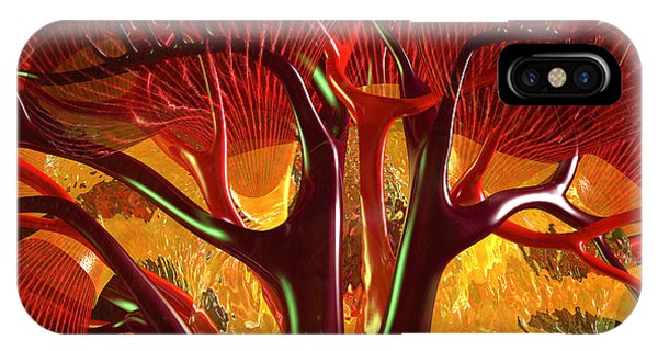 IPhone Case featuring the digital art Anatomy Abstract #1 Kidney by Russell Kightley