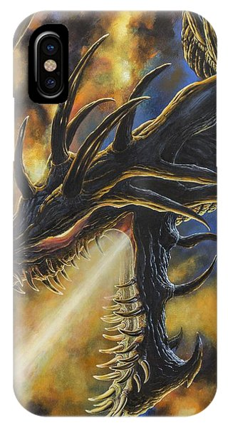 IPhone Case featuring the painting Ancalagon The Black by Kip Rasmussen