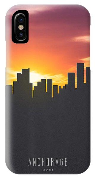 Anchorage Alaska Sunset Skyline 01 IPhone Case