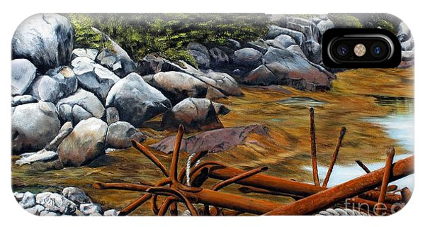 Anchors Ashore, Peggy's Cove Nova Scotia IPhone Case