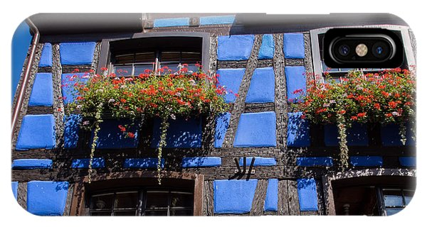 Ancient Alsace Auberge In Blue IPhone Case