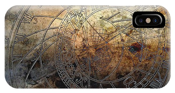 IPhone Case featuring the digital art Ancient Astrology Clock by Marianna Mills