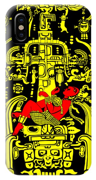 Ancient Astronaut Yellow And Red Version IPhone Case