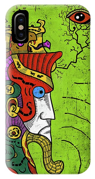 IPhone Case featuring the digital art Ancient Egypt Pharaoh by Sotuland Art