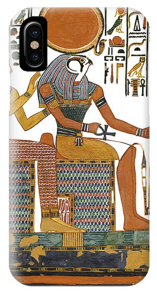 Ancient Egyptian Gods Hathor And Re IPhone Case