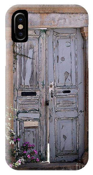 Ancient Garden Doors In Greece IPhone Case