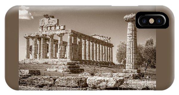 Ancient Paestum Architecture IPhone Case