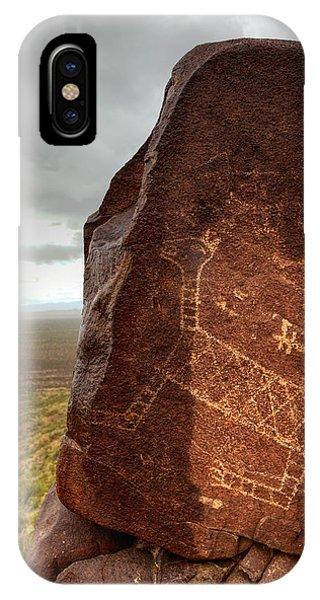Ancient Petroglyph At Three Rivers Petroglyph Site IPhone Case