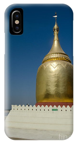 Ancient Riverside Stupa Along The Irrawaddy River In Burma IPhone Case
