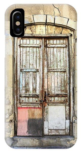 Ancient Wooden Door In Old Town. Limassol. Cyprus IPhone Case